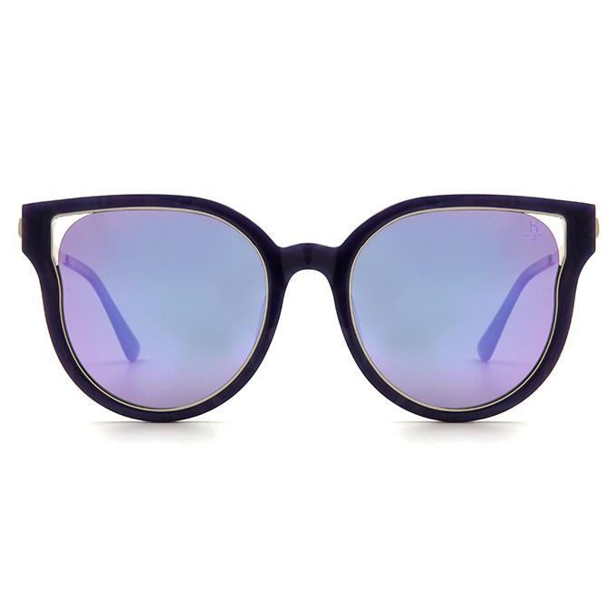 Helen Keller 復古派迷幻雙圈貓眼框墨鏡 -神秘女神 寶石紫