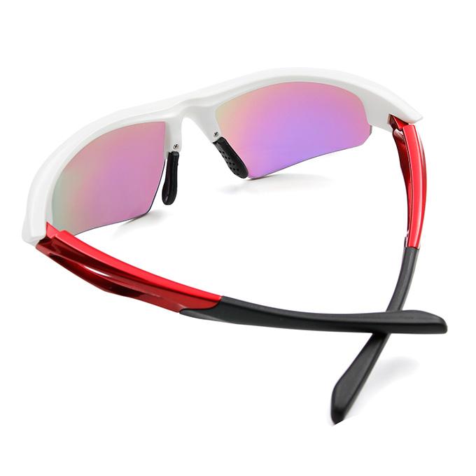 Nurbs 運動太陽眼鏡「時尚護眼框墨鏡 型」➣科技躍動/宇宙白