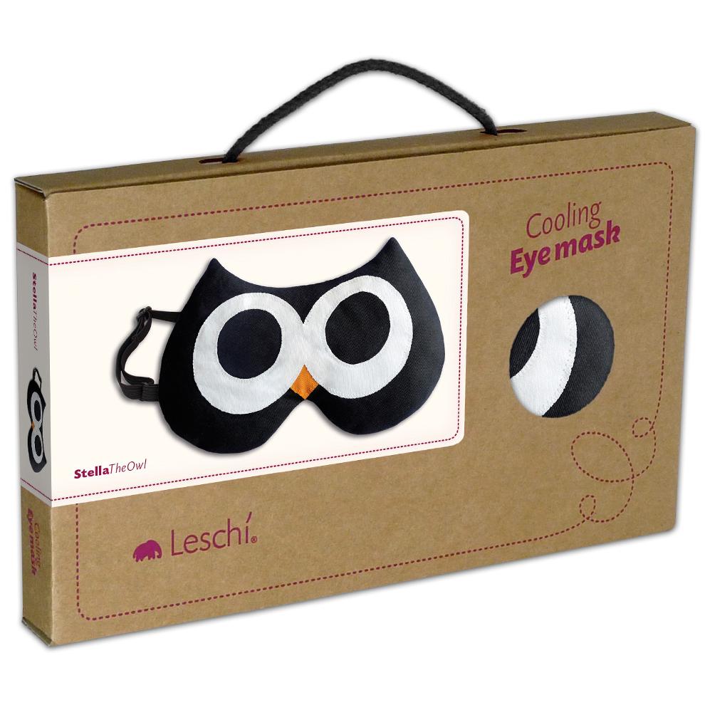 【德國萊思綺Leschi】舒緩疲勞熱敷/冷敷眼罩- 貓頭鷹造型 (黑色)