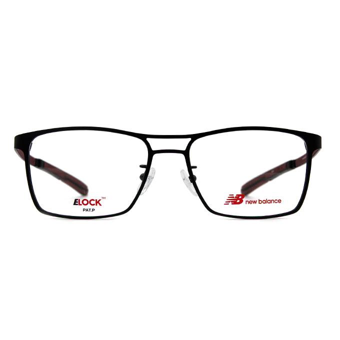New Balance ELOCK 完美商學主義鋼質方框✦氣質黑/暗紅