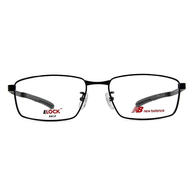 New Balance ELOCK 非凡眼界簡約長方框眼鏡✦格調黑