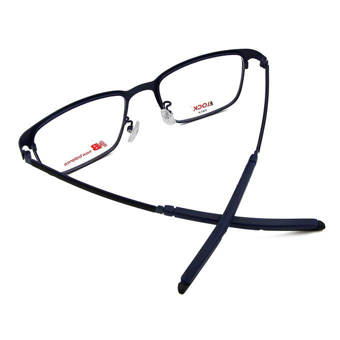 New Balance ELOCK 哲學印象俐落方框眼鏡✦紳士藍