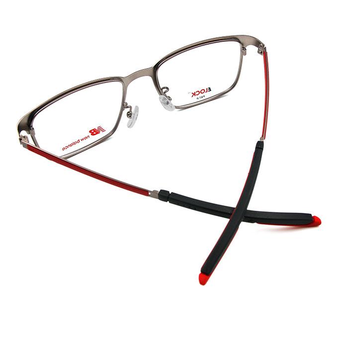 New Balance ELOCK 哲學印象俐落方框眼鏡✦鈦金銀/霧紅