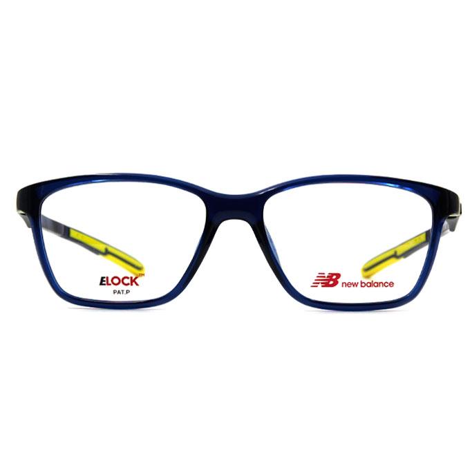 New Balance ELOCK 博雅質感方框眼鏡✦海軍藍/鮮黃