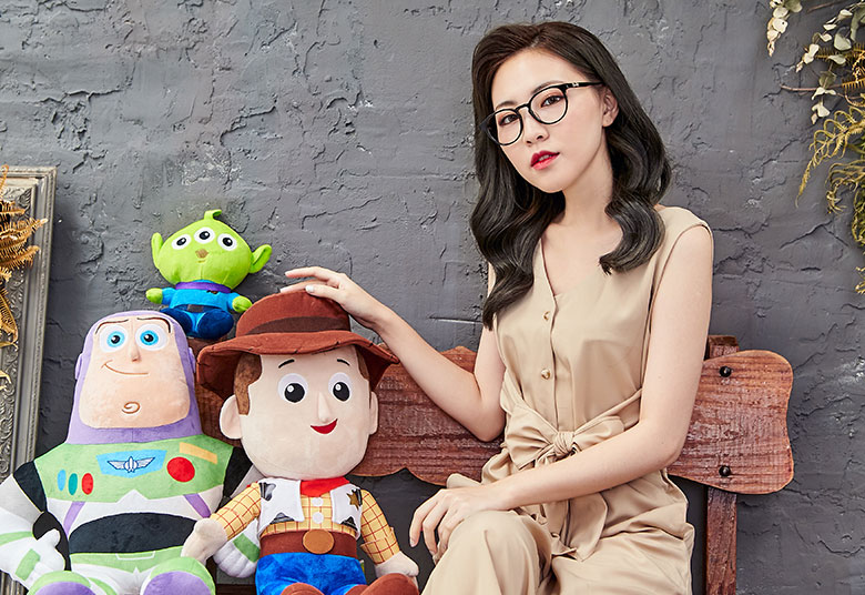 Toy Story × 胡迪粗方框眼鏡 簡約主義 ◆ 宇宙黑