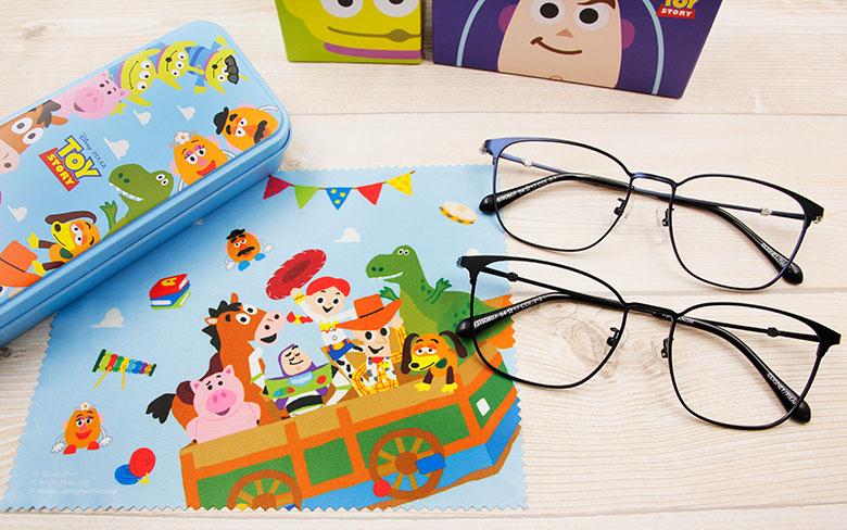 Toy Story × 巴斯光年眉框眼鏡 時光穿越 ◆ 箔金藍