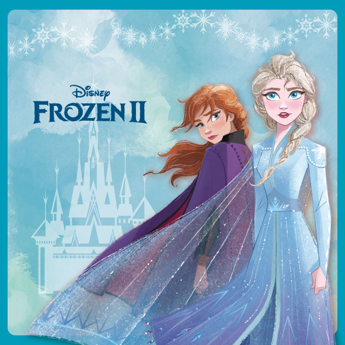 Frozen Ⅱ ★帥氣女王代表ELSA 椭圓框▼月夜黑