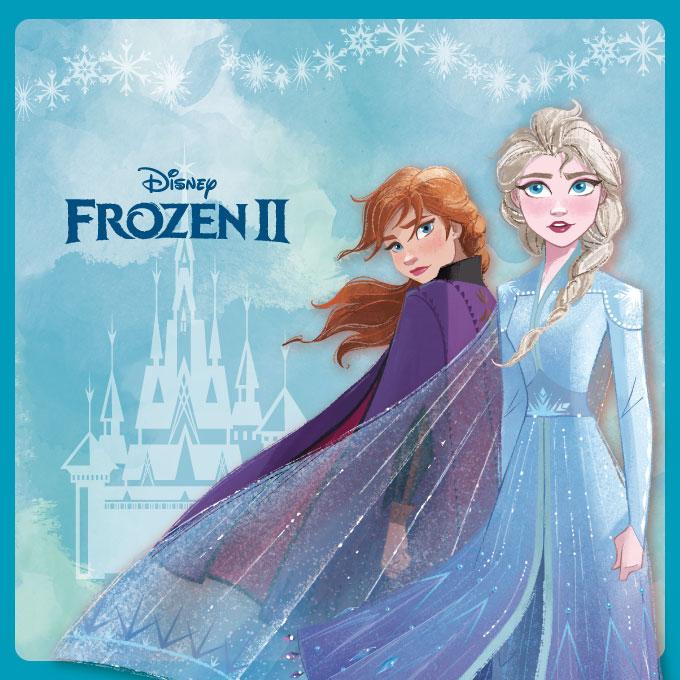 Frozen Ⅱ ★雪寶最怕曬太陽 椭圓框▼海水藍