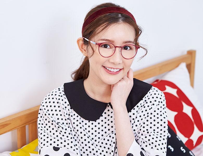 SOU・SOU l 六日目 女主角款 l 仲夏花簇賞煙花 圓框▹山茶紅
