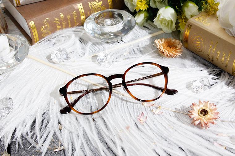 Ray Ban 雷朋│個性時尚 圓框眼鏡 拿鐵棕