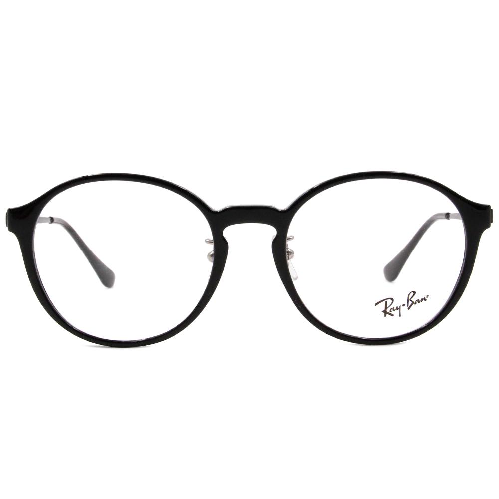 Ray Ban 雷朋│個性時尚 圓框眼鏡 墨石黑