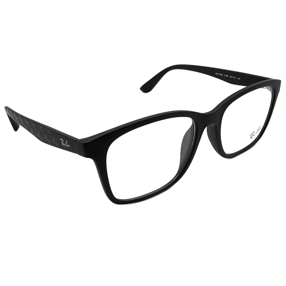 Ray Ban 雷朋│低調Logo設計 方框眼鏡 狂潮黑