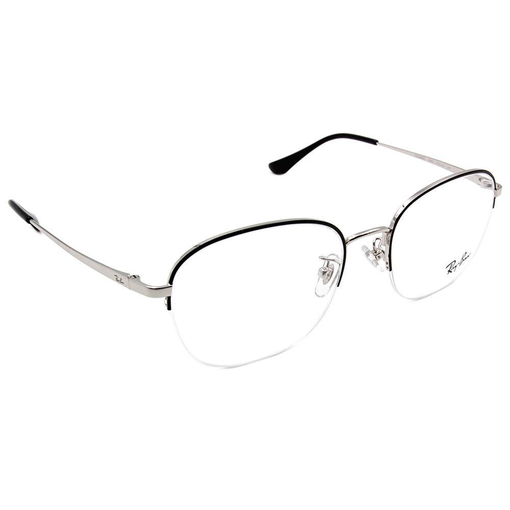 Ray Ban 雷朋│流行細版 威靈頓眉框眼鏡 布魯灰