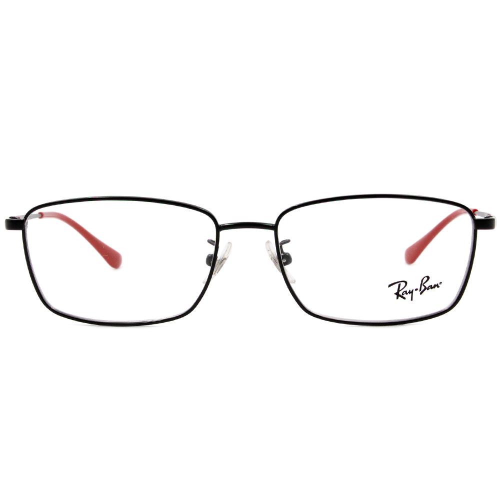 Ray Ban 雷朋│理性紳士 細長方框眼鏡 紳士黑