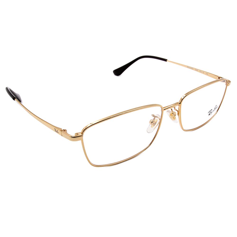 Ray Ban 雷朋│理性紳士 細長方框眼鏡 仿古金