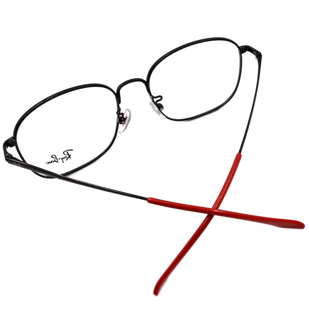 Ray Ban 雷朋│極簡雋永 威靈頓框眼鏡 鋼琴黑