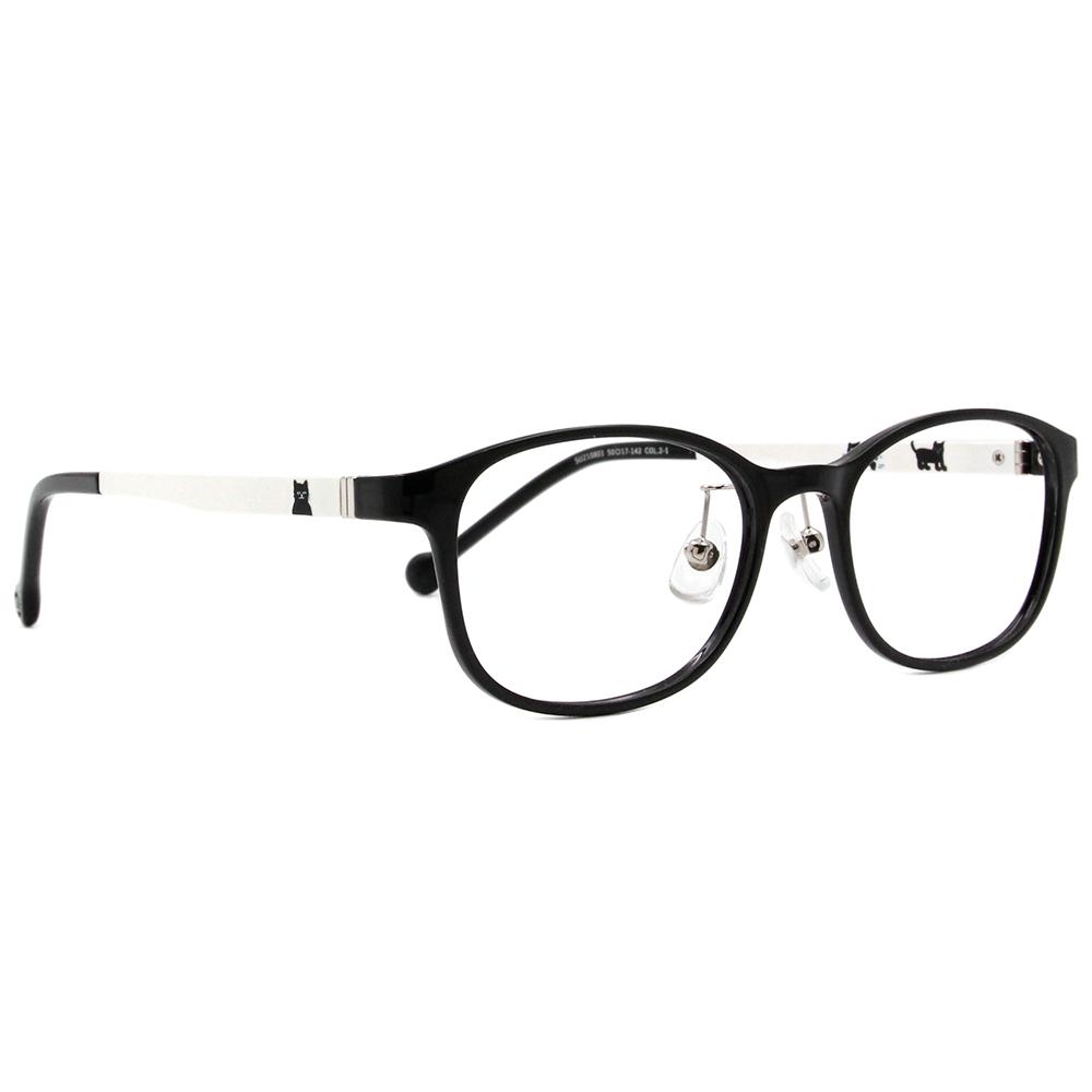 SOU・SOU l 散步小貓 方框眼鏡✿鋼琴黑