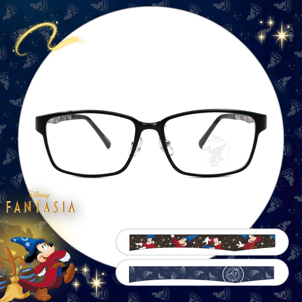 Disney🌟Fantasia l 夜空米奇 長方框眼鏡 經典黑