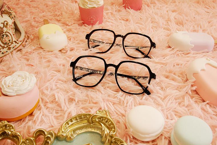Disney-粉萌季 l 桑普邦妮的浪漫花園 大方眼鏡 透灰色