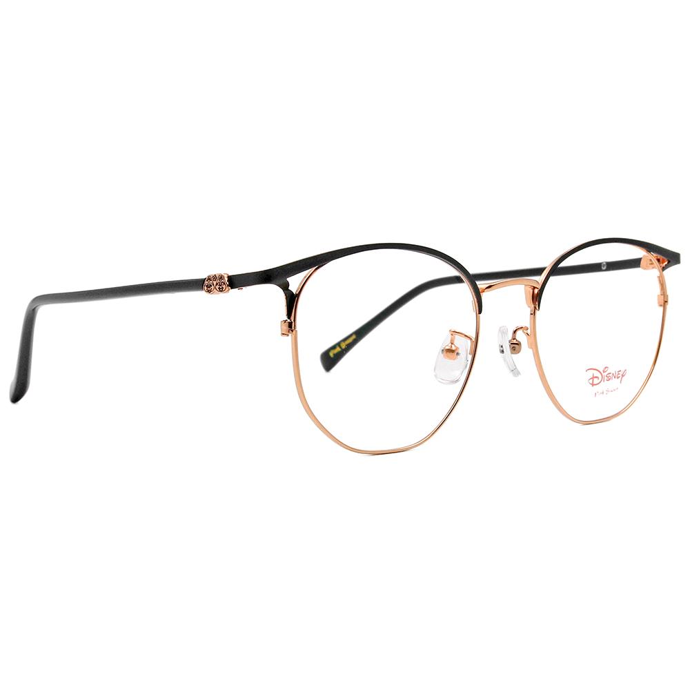 Disney-粉萌季 l 相親相愛奇奇蒂蒂 眉型多邊框眼鏡 黑金色