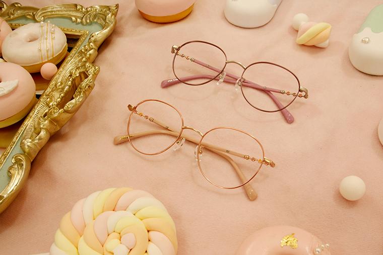 Disney-粉萌季 l 春採花蜜 波士頓框眼鏡 粉桃橘