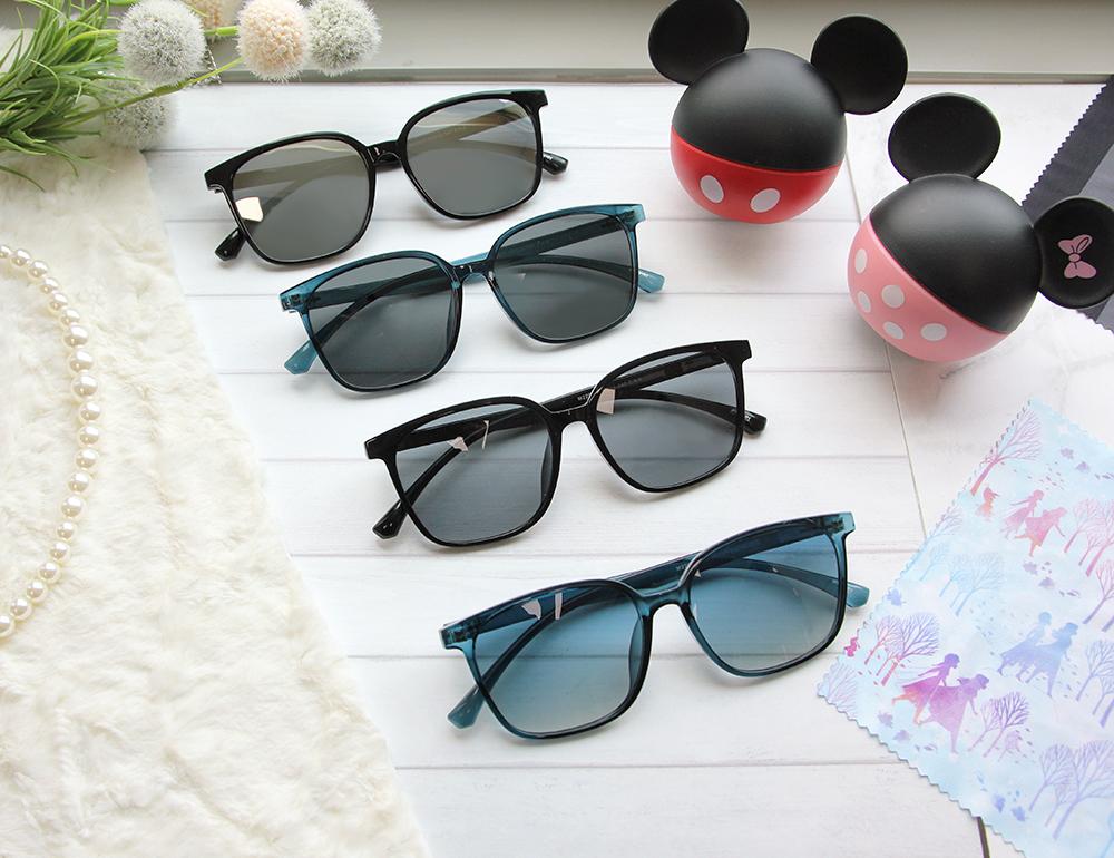 Disney 史迪奇│渡假海風 方框墨鏡 銀河黑