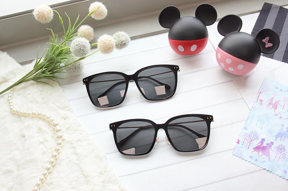 Disney 米奇│奇幻古堡 方框眼鏡 潮流黑
