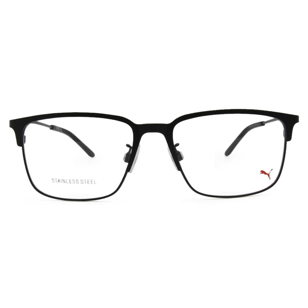 PUMA l 剛性質感 長方框眼鏡 l 炭晶黑