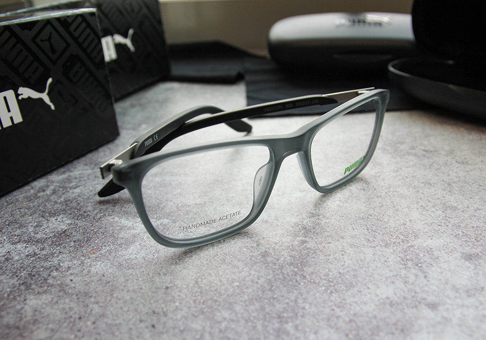 PUMA l 時尚主義 方框眼鏡 l 石板灰