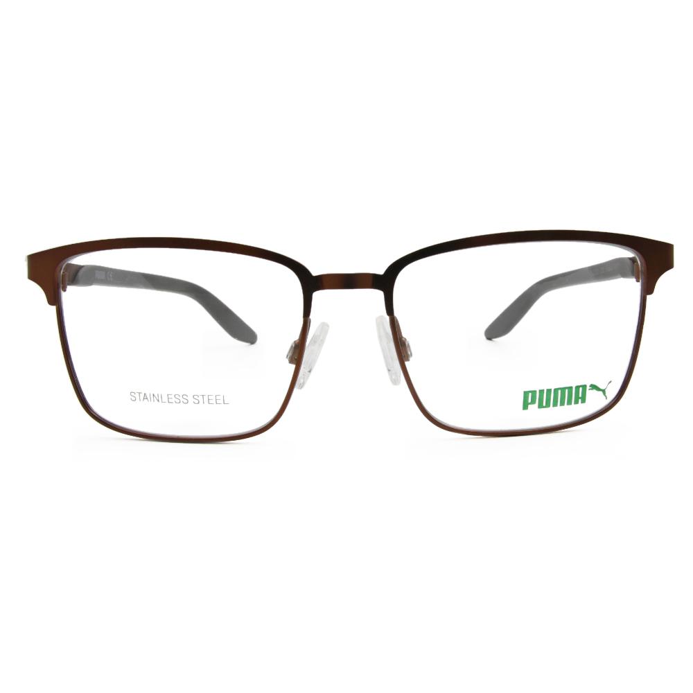 PUMA l 熱情學院 方框眼鏡 l 仿古金